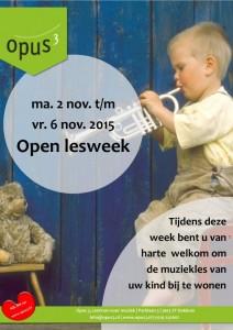Open lesweek 2 tm 6 nov 2015